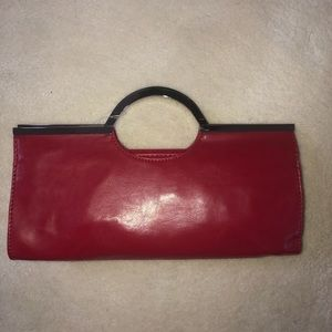 Candies Red with Silver Hardware Clutch/Purse